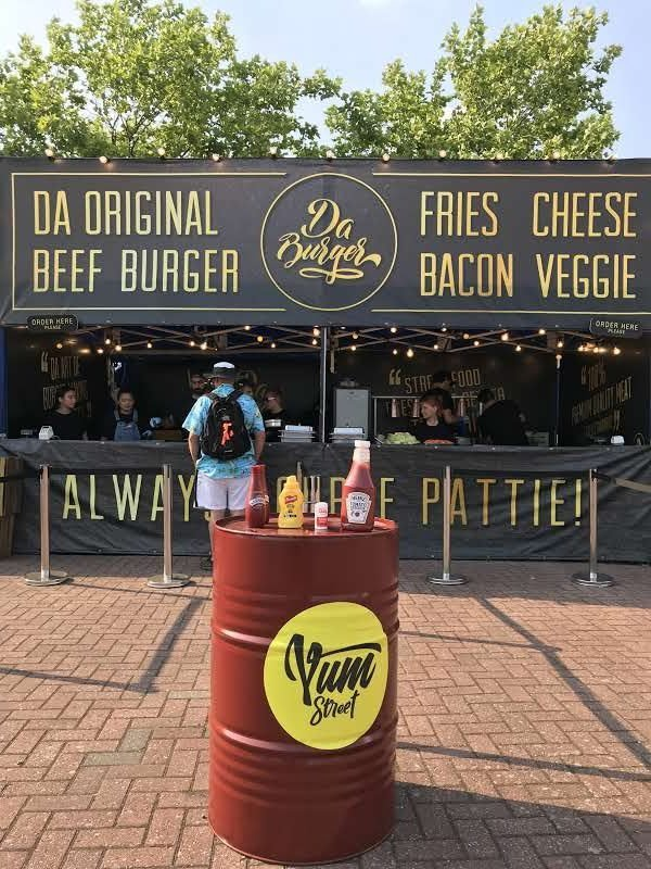 Festival burger catering