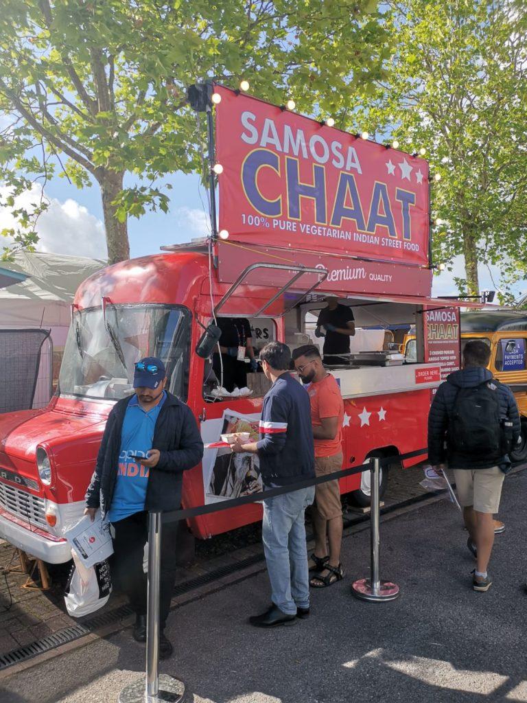 yum street samosa chaat vegetarian