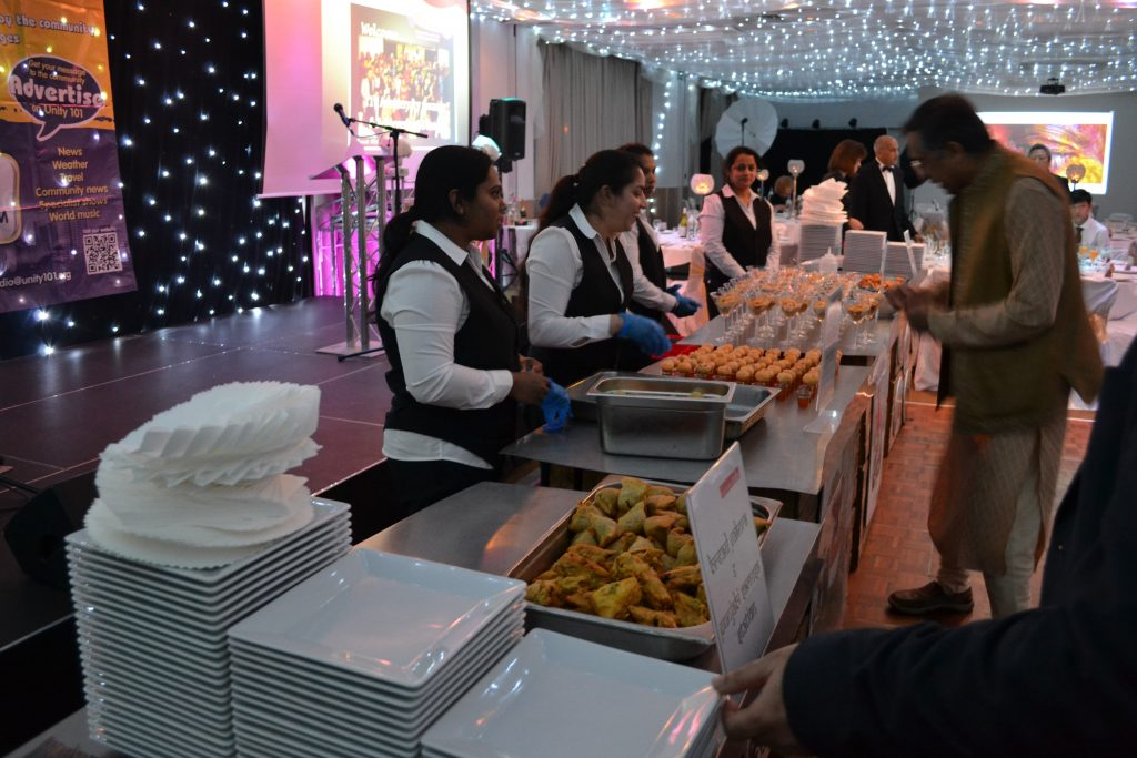 buffet for a corporate event